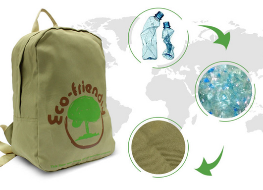 Biodegradable, recycled backpack