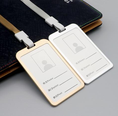 Metal Namecard holder with lanyard