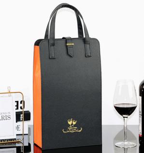2 wine leather holder