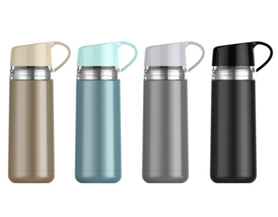 Thermal bottle with cup holder