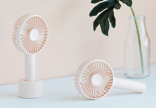 Mini USB rechargable fan and stand