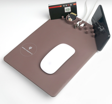 Wirless charging mouse pad