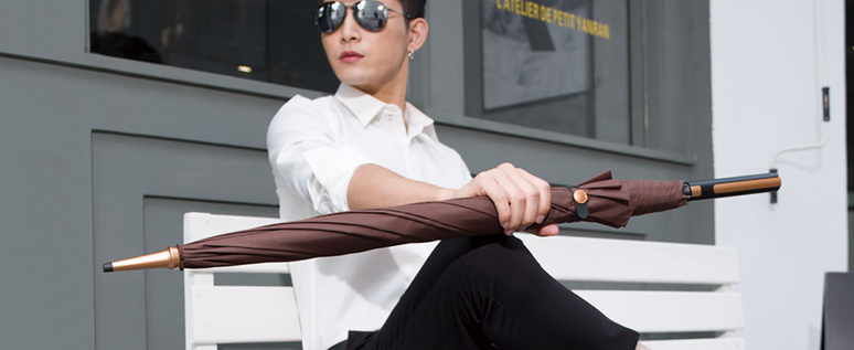 Corporate fashion long umbrella