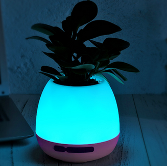 Music flower pot+ lamp