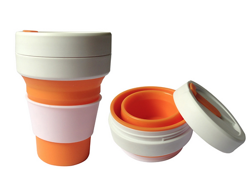 Silicon foldable cup