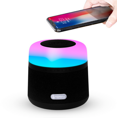 Bluetooth speaker + Wireless Charger + Color LED lighting
