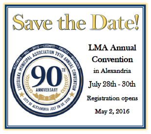 Hotel reservations are now open for LMA's 79th Annual Convention July 28th-30th at the Alexandria Riverfront Center
