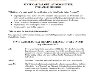 Latest Capital Outlay Newsletter Released