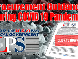 Procurement Guidance During COVID 19 Pandemic