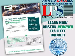 Efleets Partnership Saves City of Ruston Nearly $60K