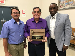 LaMATS Past President Honored for Service, New Officers Named