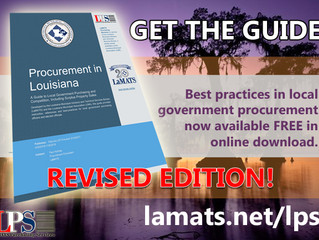 LaMATS Purchasing Services Releases Revised Guide to Municipal Procurement