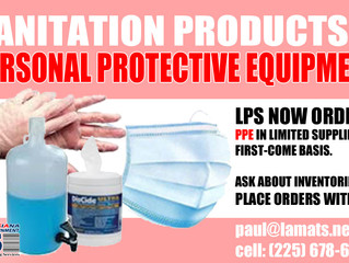 LPS Orders Sanitation Products and PPE
