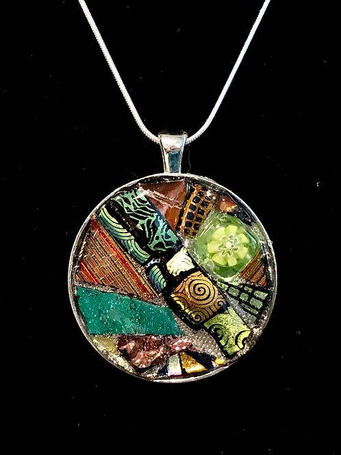 Circle mosaic necklace