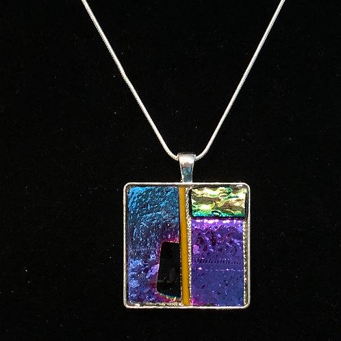 Square mosaic necklace