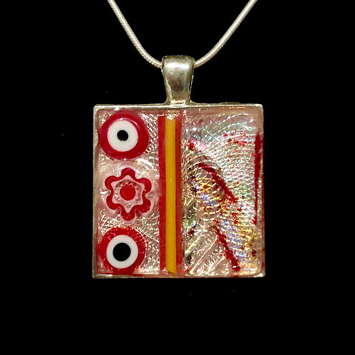 Square mosaic necklace