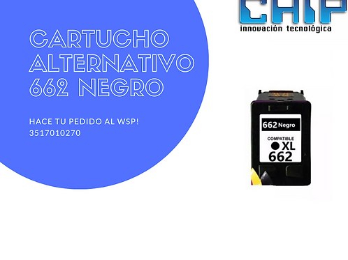 CARTUCHO ALTERNATIVO 662 NEGRO