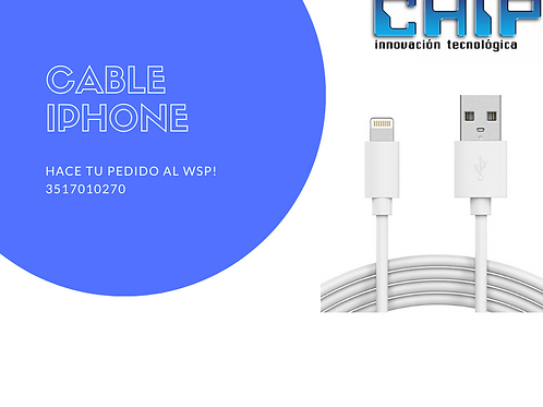 CABLE IPHONE 2MTS