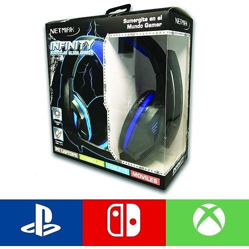 AURICULAR GAMER PS4 INFINITY NETMAK
