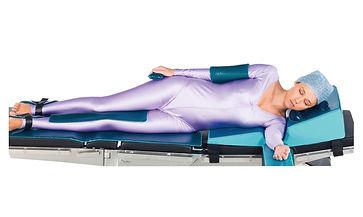 Posiçao decubito lateral para cirurgia de hernia disco