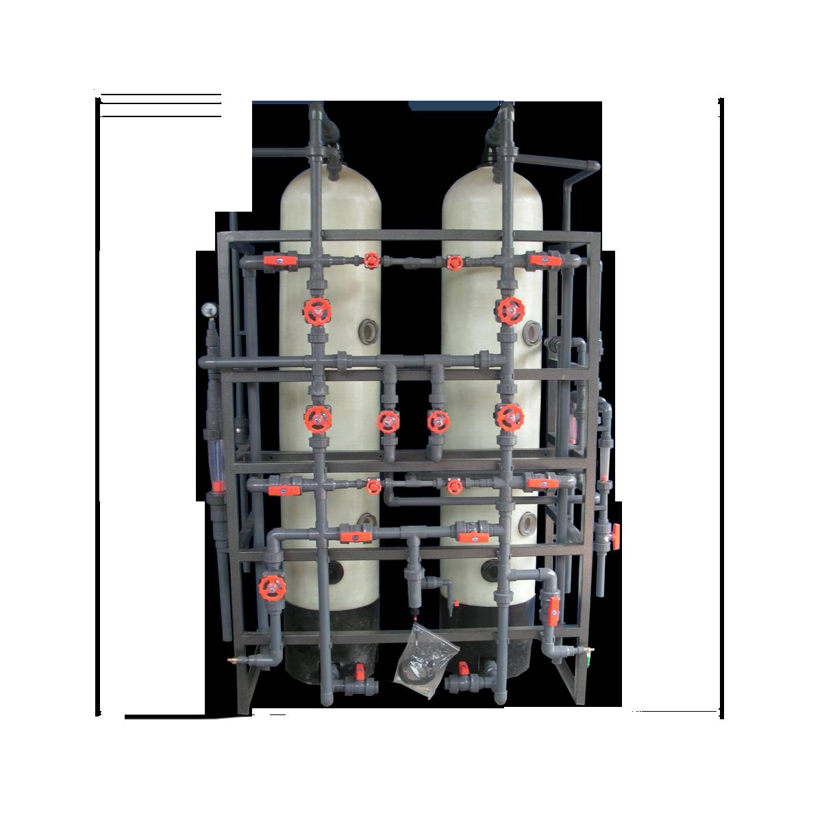 Sistema  desionización  lecho mixto