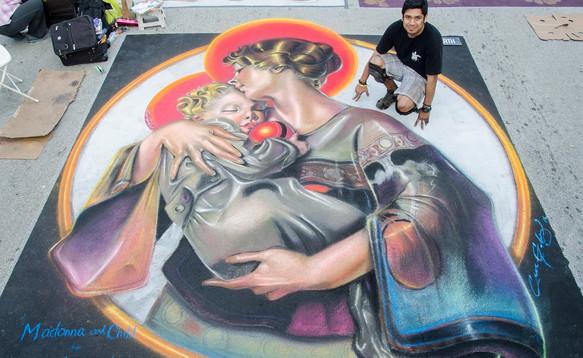 Chalk Festival Artist - Ever Galvez