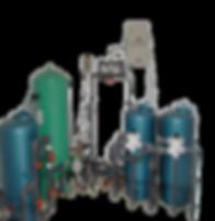 Bateria de Filtros Suavizador compuesto por filtros con Carbón Activado, Arenas de Sílice, Antracita,  en serie  más sistema bactericida de Ozono