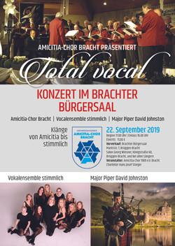 Plakat Konzert Amicitia Druck