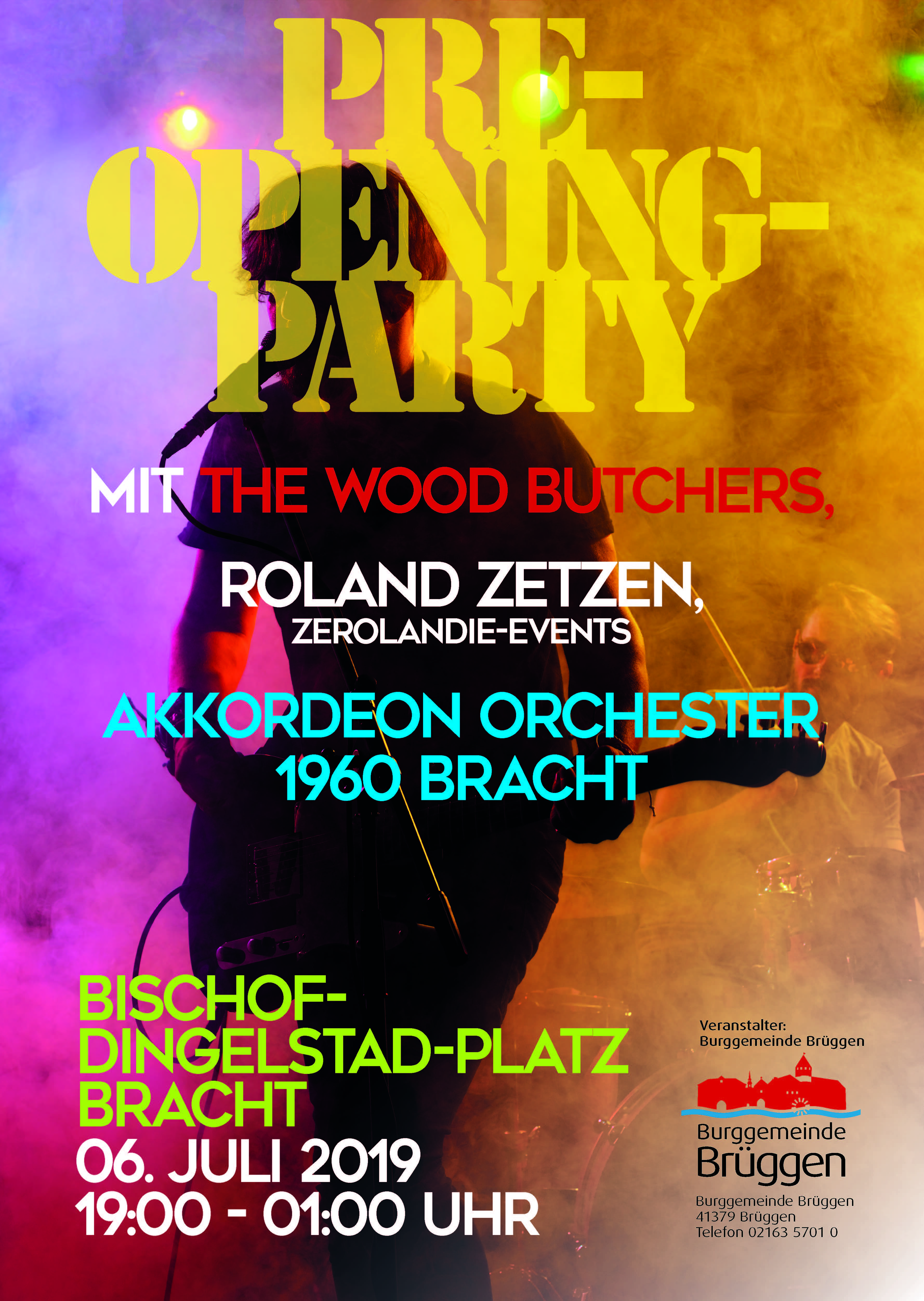 Pre-Opening-Party Plakat