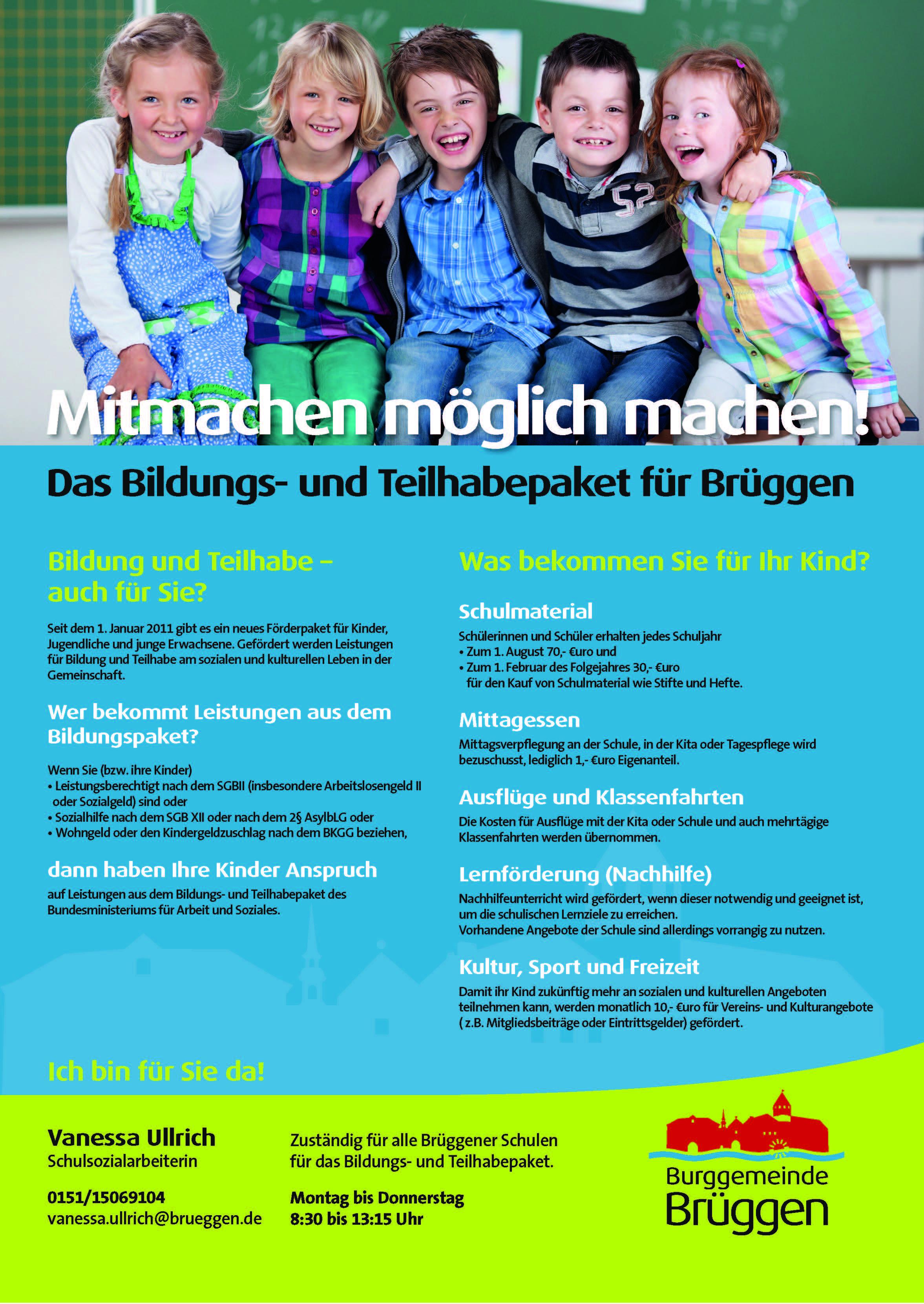 Plakat Bildung und Teilhabe