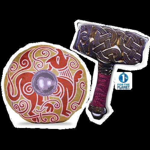 Viking Hammer & War Hound Shield Set