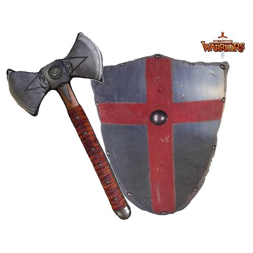 Medieval Templar Axe & Avalon Shield