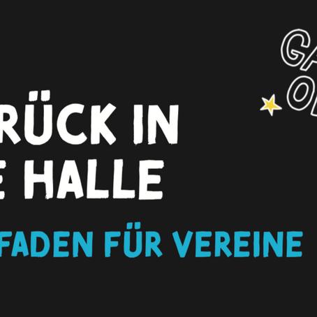 """""""Zurück in die Halle"""": Leitfaden für Vereine"""