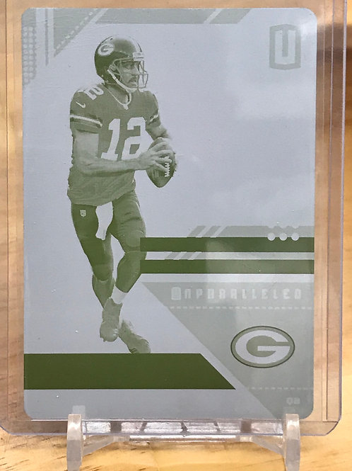2019 Plates & Patches Aaron Rodgers Yellow Plate 1/1
