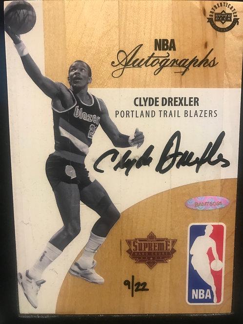 2017-18 UD Supreme Hard Court Clyde Drexler 9/22