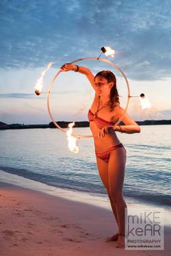 Fire hoop