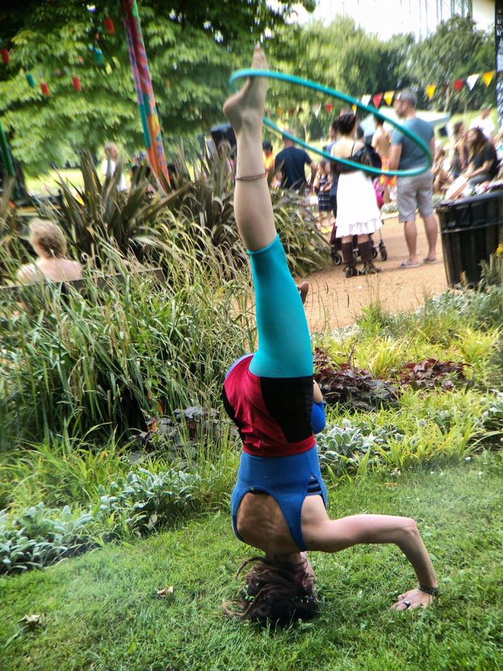 Headstand Hooping