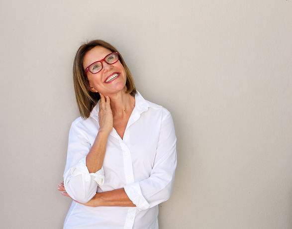 Portrait of smiling business woman with