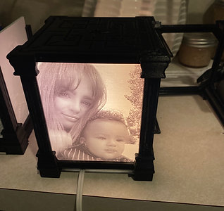 3d Printed Photo with Lamp