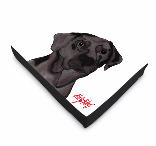Stole My Heart Chocolate Labrador Dog Bed