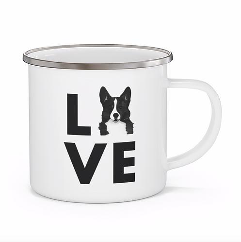 Stole My Heart Corgi Personalized Enamel Mug
