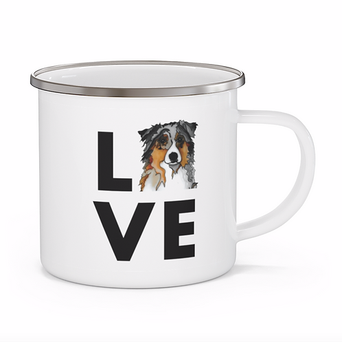Stole My Heart Australian Shepherd Personalized Enamel Mug