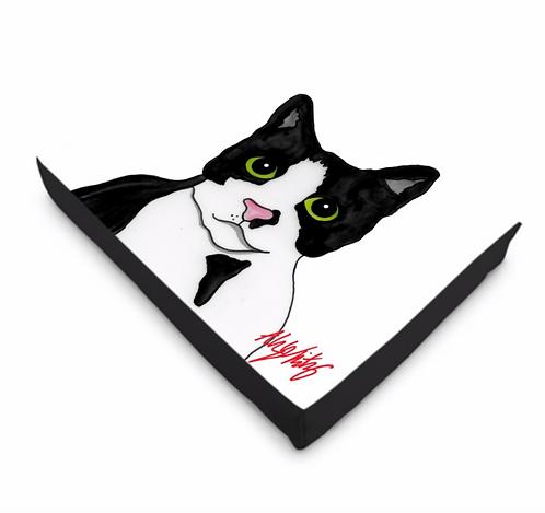 Stole My Heart Tuxedo Cat Bed