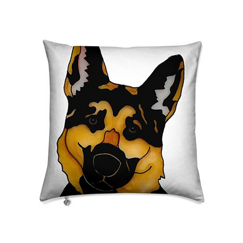 Stole My Heart German Shepherd Velvet Pillow