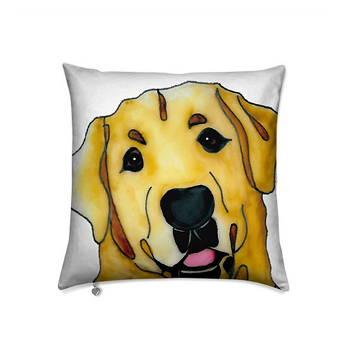 Stole My Heart Yellow Labrador Velvet Pillow