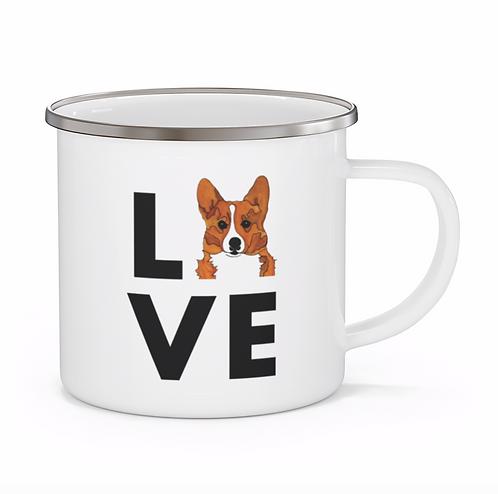 Stole My Heart Corgi 2 Personalized Enamel Mug
