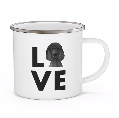 Stole My Heart Standard Poodle Personalized Enamel Mug