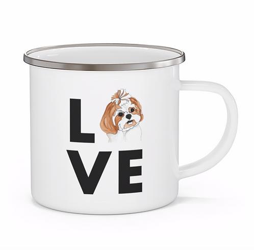 Stole My Heart Shih Tzu 2 Personalized Enamel Mug