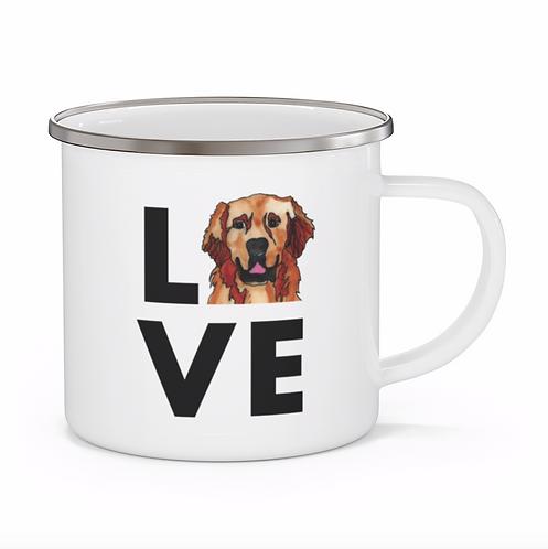 Stole My Heart Golden Retriever Personalized Enamel Mug