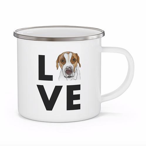 Stole My Heart Mutt 5 Personalized Enamel Mug